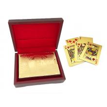 Guldkortlek i 24 karat - Med Exklusiv Trälåda