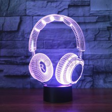 3D-lampa  Hörlurar