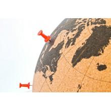 Kork  Globus  stor  25  cm.  -  hvor  har  du  været?
