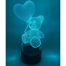 3D-lampa Nallebjörn