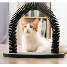 Klösmöbel  med  massagebåge  för  katter
