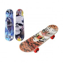 Skateboard med motiv