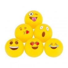 Beer Pong-bollar med emojis - 6 st