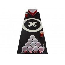 Beer Pong-matta med bollar och muggar