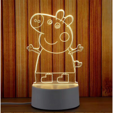 Greta  Gris  3D-lampa