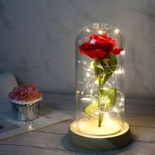 Ros lykta med LED ljus
