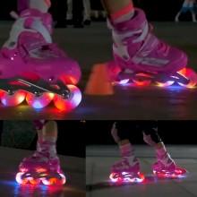 Justerbara Inlines med LED-belysning - Pink