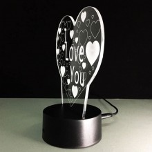 3D hjärt lampa
