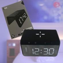 Väckarklocka med trådlös QI-laddare