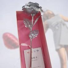 Silver färgad ros - Elegant present ros