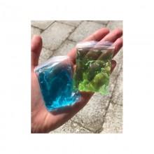 Slime blå och grön